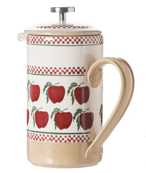 Large Cafetiere Coffee Pot Apple spongeware by Nicholas Mosse Pottery - Ireland - Handmade Irish Craft