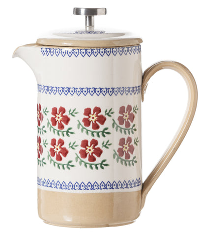 Large Cafetiere Coffee Pot Old Rose spongeware by Nicholas Mosse Pottery - Ireland - Handmade Irish Craft