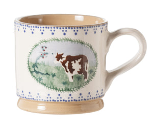Nicholas Mosse Large Mug Cow spongeware pottery by Nicholas Mosse Pottery - Ireland - Handmade Irish Craft