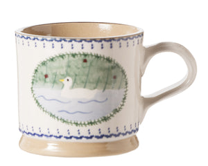 Nicholas Mosse Large Mug Duck spongeware pottery by Nicholas Mosse Pottery - Ireland - Handmade Irish Craft