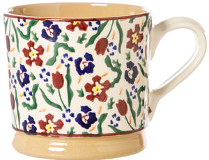Large Mug Wild Flower Meadow Nicholas Mosse Pottery handcrafted spongeware Ireland