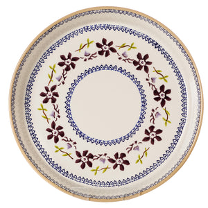 Large Quiche Dish Clematis