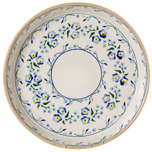 Large Quiche Dish Forget Me Not