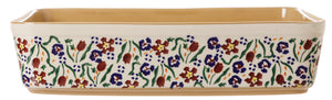 Large Rectangular Oven Dish Wild Flower Meadow