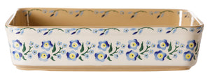 Large Rectangular Oven Dish Forget Me Not