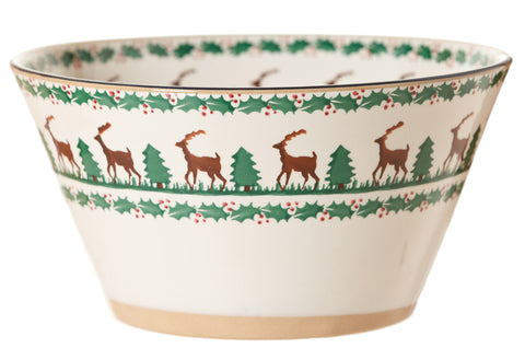 Large angle bowl Reindeer spongeware pottery by Nicholas Mosse Pottery - Ireland - Handmade Irish Craft  sc 1 st  Nicholas Mosse Pottery & Reindeer Pattern Pottery | Handcrafted Irish Pottery | Nicholas ...