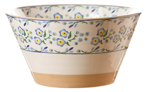 Large angled bowl Forget Me Not spongeware pottery by Nicholas Mosse Pottery - Ireland - Handmade Irish Craft