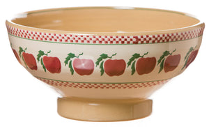 Large bowl Apple spongeware pottery by Nicholas Mosse Pottery - Ireland - Handmade Irish Craft