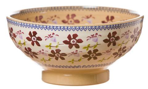 Large bowl Clematis spongeware pottery by Nicholas Mosse Pottery - Ireland - Handmade Irish Craft