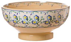 Large bowl Forget Me Not spongeware pottery by Nicholas Mosse Pottery -Ireland - Handmade Irish Craft.