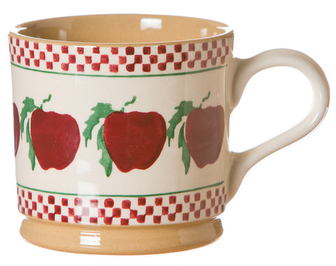 Large mug Apple spongeware pottery by Nicholas Mosse Pottery - Ireland - Handmade Irish Craft.