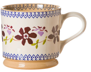 Large mug Clematis spongeware pottery by Nicholas Mosse Pottery - Ireland - Handmade Irish Craft.
