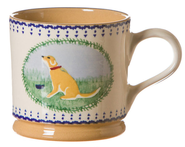 Large mug Dog spongeware pottery by Nicholas Mosse Pottery - Ireland - Handmade Irish Craft.