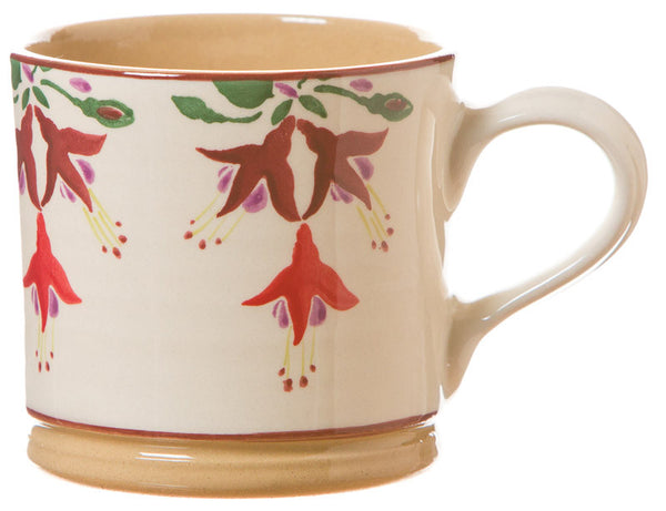 Large mug Fuchsia spongeware pottery by Nicholas Mosse Pottery - Ireland - Handmade Irish Craft.