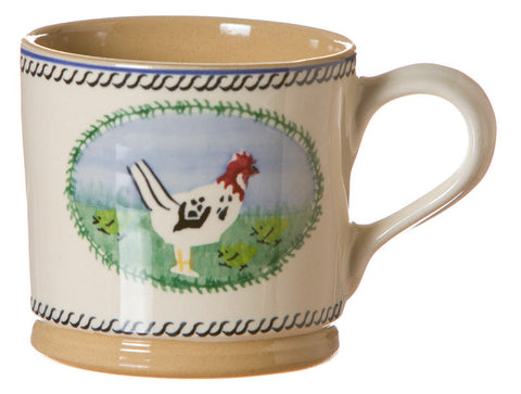 Large mug Hen spongeware pottery by Nicholas Mosse Pottery - Ireland - Handmade Irish Craft.
