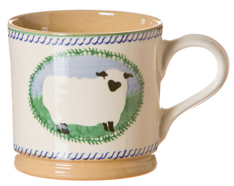 Large mug Sheep spongeware pottery by Nicholas Mosse Pottery - Ireland - Handmade Irish Craft.