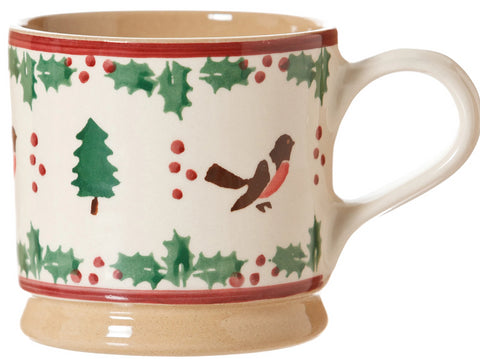 LARGE MUG WINTER ROBIN