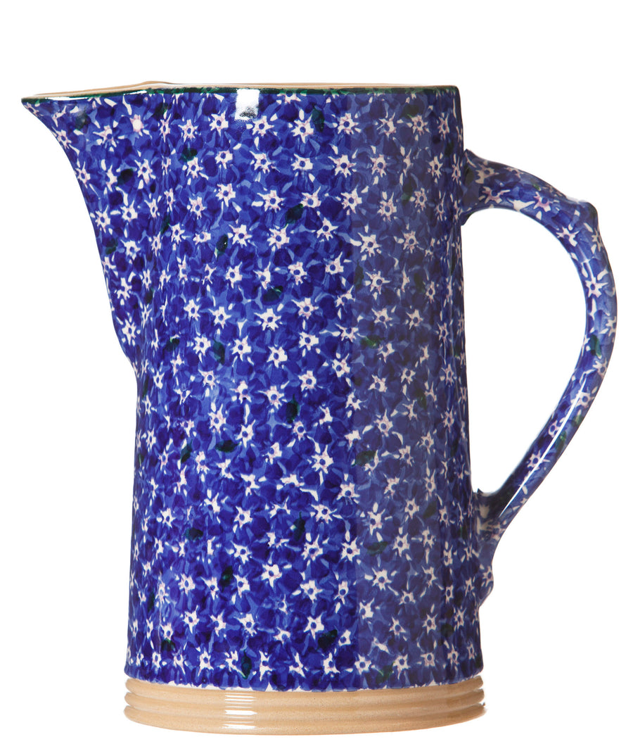 Lawn Dark Blue XL Jug spongeware by Nicholas Mosse Pottery - Ierland - Handmade Irish Craft