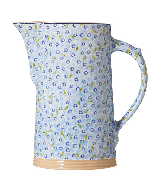 Lawn Light Blue XL Jug spongeware by Nicholas Mosse Pottery - Ireland - Handmade Irish Craft