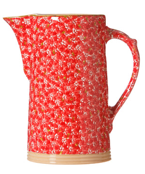 Lawn Red XL Jug spongeware by Nicholas Mosse Pottery - Ireland - Handmade Irish Craft