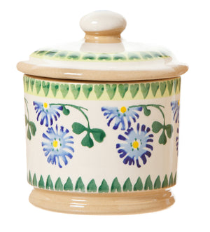 Lidded Sugar Bowl Clover spongeware pottery by Nicholas Mosse, Ireland - Handmade Irish Craft - nicholasmosse.com