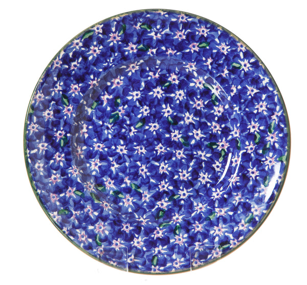 Lunch Plate Lawn Dark Blue spongeware pottery by Nicholas Mosse Pottery - Ireland - Handmade Irish Craft