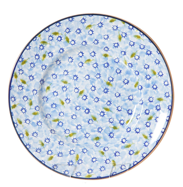 Lunch Plate Lawn Light Blue spongeware pottery by Nicholas Mosse Pottery - Ireland - Handmade Irish Craft.