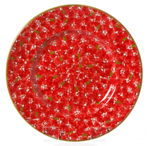 Lunch Plate Red Lawn spongeware pottery by Nicholas Mosse Pottery - Ireland - Handmade Irish Craft