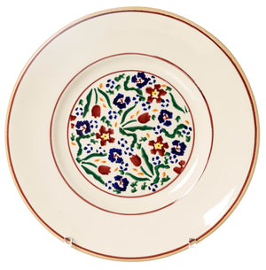 Lunch Plate Wild Flower Meadow Nicholas Mosse Pottery handcrafted spongeware Ireland
