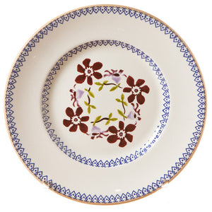 Lunch plate Clematis spongeware pottery by Nicholas Mosse Pottery - Ireland - Handmade Irish Craft.