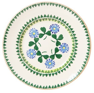 Lunch Plate Clover Nicholas Mosse Pottery handcrafted spongeware Ireland