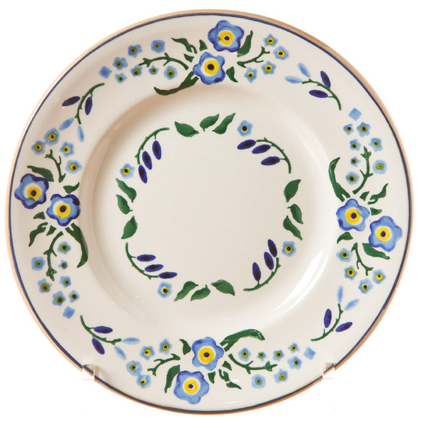 Lunch plate Forget Me Not spongeware pottery by Nicholas Mosse Pottery - Ireland - Handmade Irish Craft.