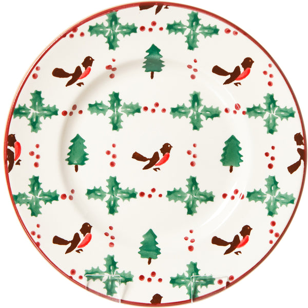 LUNCH PLATE WINTER ROBIN