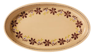 Medium Oval Oven Dish Clematis