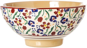Medium Bowl Wild Flower Meadow Nicholas Mosse Pottery handcrafted spongeware Ireland