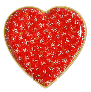 Medium Heart Plate Red Lawn
