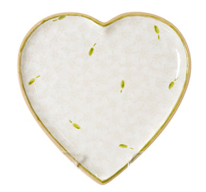 Medium Heart Plate White Lawn by Nicholas Mosse Pottery - Ireland - Handmade Irish Craft