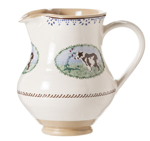 Medium Jug Cow spongeware pottery by Nicholas Mosse, Ireland - Handmade Irish Craft - nicholasmosse.com