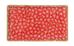 Medium Rectangle Plate Lawn Red spongeware pottery by Nicholas Mosse Pottery - Ireland - Handmade Irish Craft.