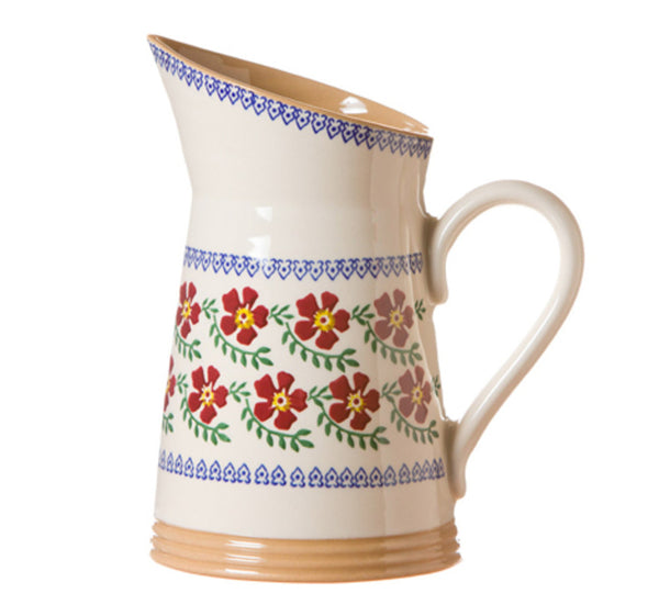 MEDIUM ANGLED JUG OLD ROSE