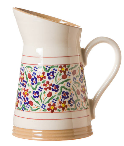 MEDIUM ANGLED JUG WILD FLOWER MEADOW