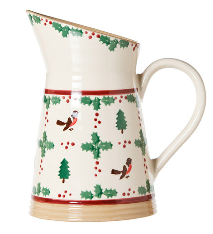 MEDIUM ANGLED JUG WINTER ROBIN