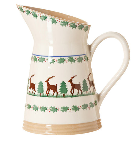 MEDIUM ANGLED JUG REINDEER