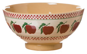 Medium bowl Apple spongeware pottery by Nicholas Mosse Pottery - Ireland - Handmade Irish Craft.