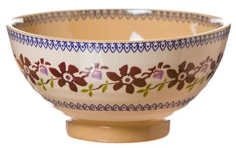 Medium bowl Clematis spongeware pottery by Nicholas Mosse Pottery - Ireland - Handmade Irish Craft.