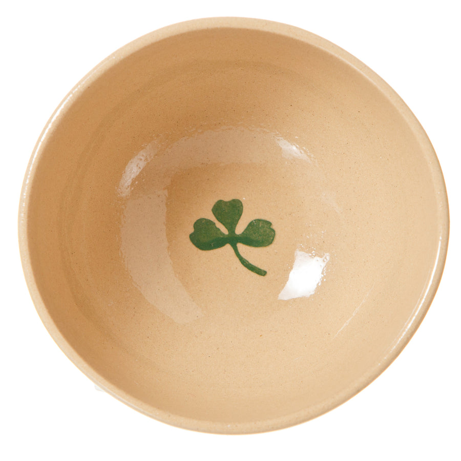 Medium bowl Clover spongeware pottery by Nicholas Mosse - Ireland - Handmade Irish Craft