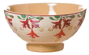 Medium bowl Fuchsia spongeware pottery by Nicholas Mosse Pottery - Ireland - Handmade Irish Craft.