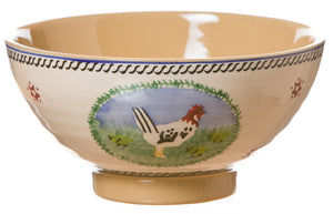 Medium bowl Hen spongeware pottery by Nicholas Mosse Pottery - Ireland - Handmade Irish Craft