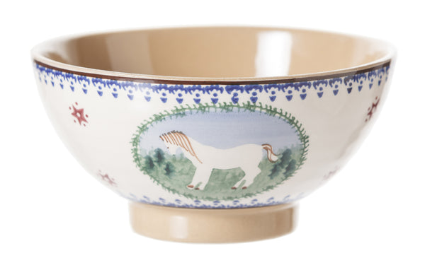 Medium bowl Pony spongeware by Nicholas Mosse Pottery - Ireland - Handmade Irish Craft