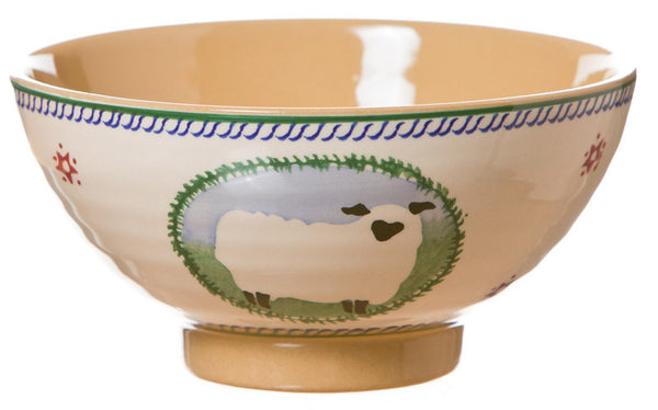 Medium bowl Sheep spongeware pottery by Nicholas Mosse Pottery - Ireland - Handmade Irish Craft